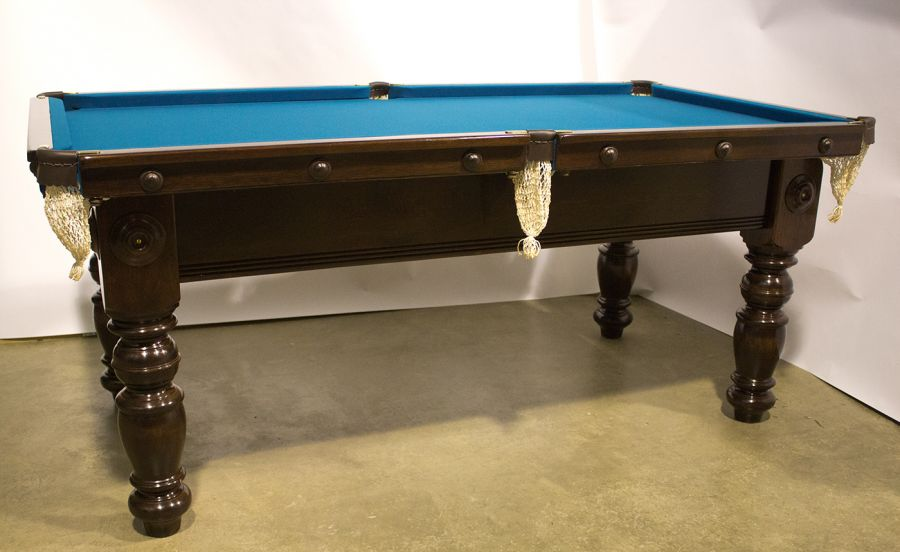 M1020 6 Ft Mahogany Pool Table With Turned Legs - How To Mark A 6ft Pool Table