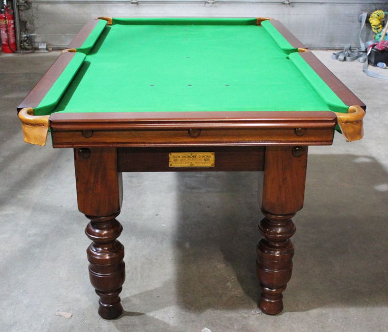 M1172 6 Ft Mahogany Turned Leg Snooker Pool Table By Padmore - How To Mark A 6ft Pool Table