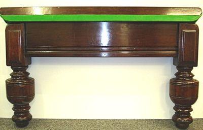 (H654) 10ft Burroughes & Watts Snooker/Billiard Table