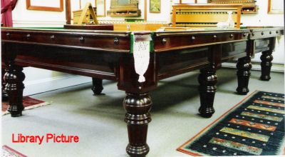 (M080) Full-size Billiard Table by Norval of Scotland