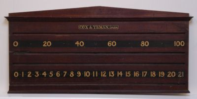 snooker scoreboard by Cox & Yeman