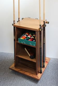 Square 9 Clip Cue Rack and Cabinet