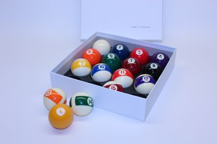 Aramith 1 7/8 inch Screen Printed Pool Balls (Spots and Stripes)