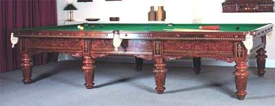 Antique Burr Walnut Snooker Table