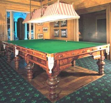 Full Size Burr Walnut Snooker Table
