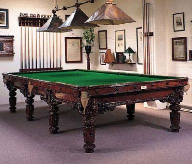 Burr Walnut Snooker Table
