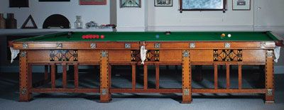 Arts & Crafts Full Size Snooker Table