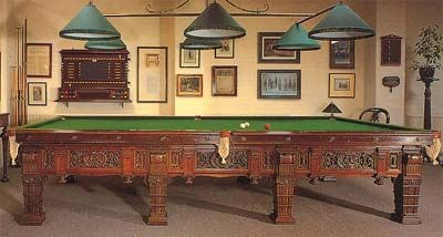Ornate Full Size Snooker Table