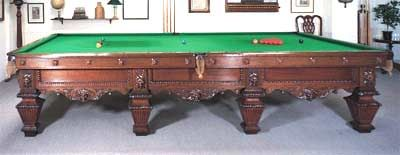 Edwardian Full Size Snooker Table