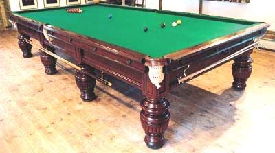 Antique Mahogany Full Size Snooker Table
