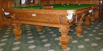 Burr Oak Full Size Snooker Table