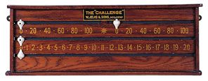 small oak snooker scoreboard