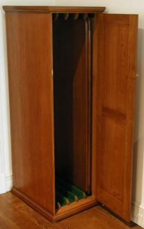Upright Free Standing Snooker Cabinet