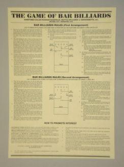 sheet bar billiard rules