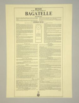 Bagatelle Rules - Sheet