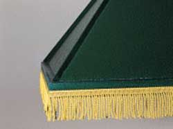 New Green Pressed Steel Canopy With Gold Fringe For Full-Size Tables