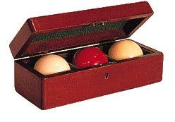 Antique Restored Mahogany Billiards Ball Case