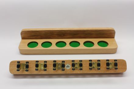 oak wall rack for snooker cues