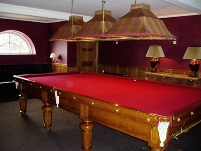 Oak Billiard Table and Lighting, Costa Del Sol, Spain