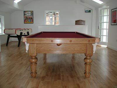 Solid Oak Pool Table, Italy