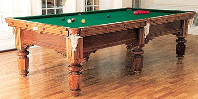 Solid Walnut Pool Table Manhatton