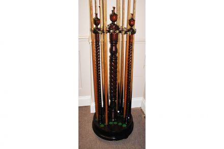 Revolving Barley Twist Rack Holds 18 Cues