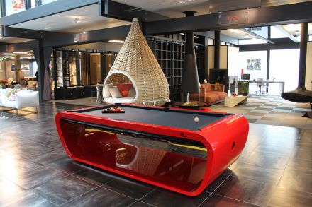Toulet blacklight luxury pool table
