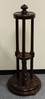 (C61) Revolving Mahogany Cue Rack by G. Wright