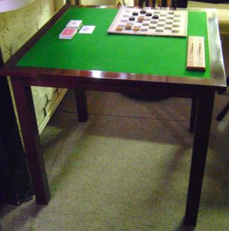 (MIS18) Hamilton Handmade Mahogany Card Table