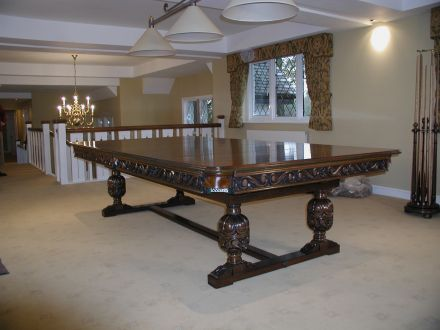 Carved Refectory Snooker Dining Table