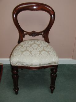 Dutch Plain Mahogany Dining Chair