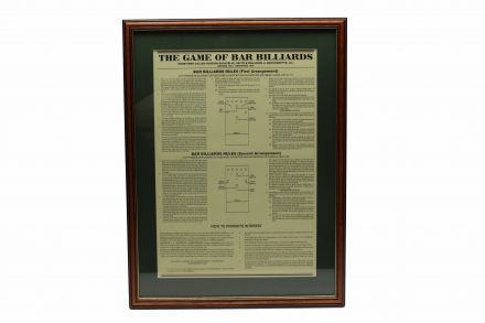 bar billiard rules framed