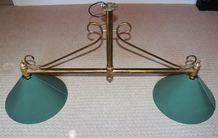 2 shade brass light