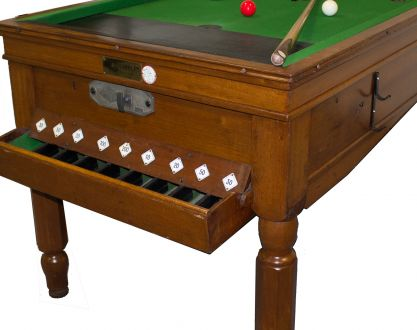 Used Mahogany Bar Billiard Table