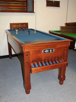mahogany bar billiard table
