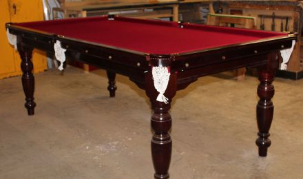 (M1154) 7 ft Mahogany Turned Leg Snooker/Pool Table by Riley