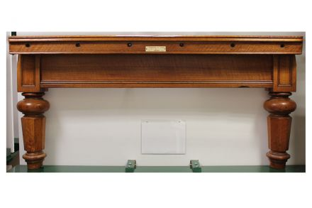 Antique oak snooker table