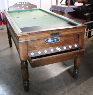 oak bar billiard table