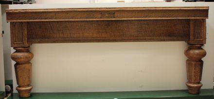 full-size oak  snooker table