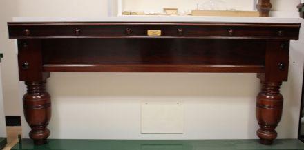 full-size mahogany snooker table