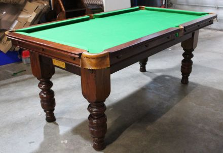 (M1172) 6 ft Mahogany Turned Leg Snooker/Pool Table by Padmore
