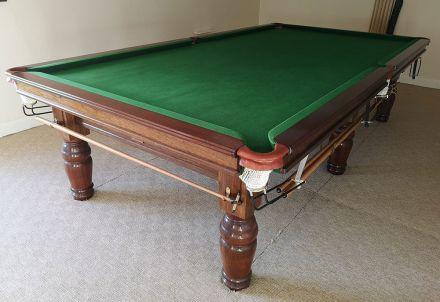 (M1175) 10 ft Mahogany Turned Leg Snooker Table