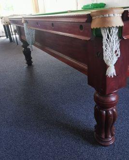(M1199) 7 ft Mahogany Tulip Leg Snooker/Pool Table