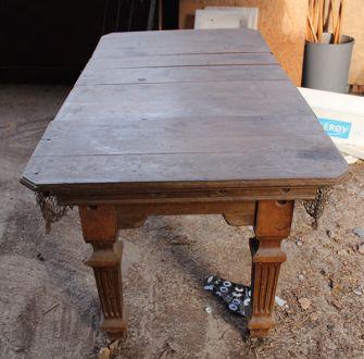 (M1210) 5 ft Oak Square Leg Snooker & Pool Dining Table