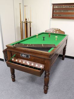 (M1220) Oak Bar Billiard Table
