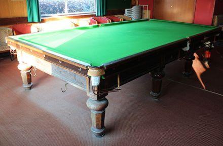 (M1222) Full-Size Walnut Hexagonal Leg Snooker Table