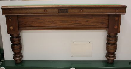(M1231) 10 ft Mahogany Turned Leg Snooker Table by Thurston