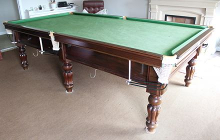 (M1232) 9 ft Mahogany Tulip Leg Snooker/Pool Table