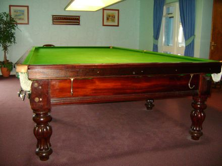 Full size second hand snooker table for sale by Burroughes & Watts