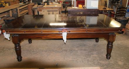 (M935) 8 ft Mahogany Snooker/Pool Diner